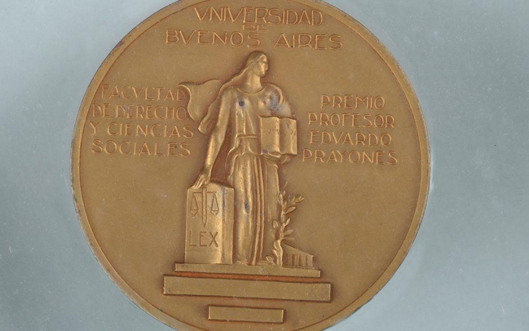 Premio Profesor Eduardo Prayones – Universidad de Buenos Aires – Facultad de Derecho y Ciencias Sociales